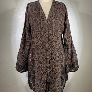 Johnny Was Florence tile Tunic Size M NWOT